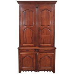 18th Century French Walnut Buffet a Deux Corps