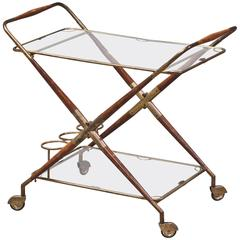 Italian 1950s Drink Cart by Cesare Lacca