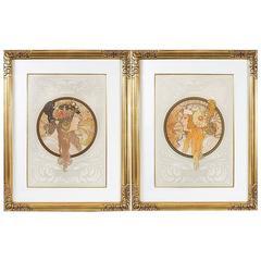 "Byzantine Heads"" Lithographs by Alphonse Mucha"