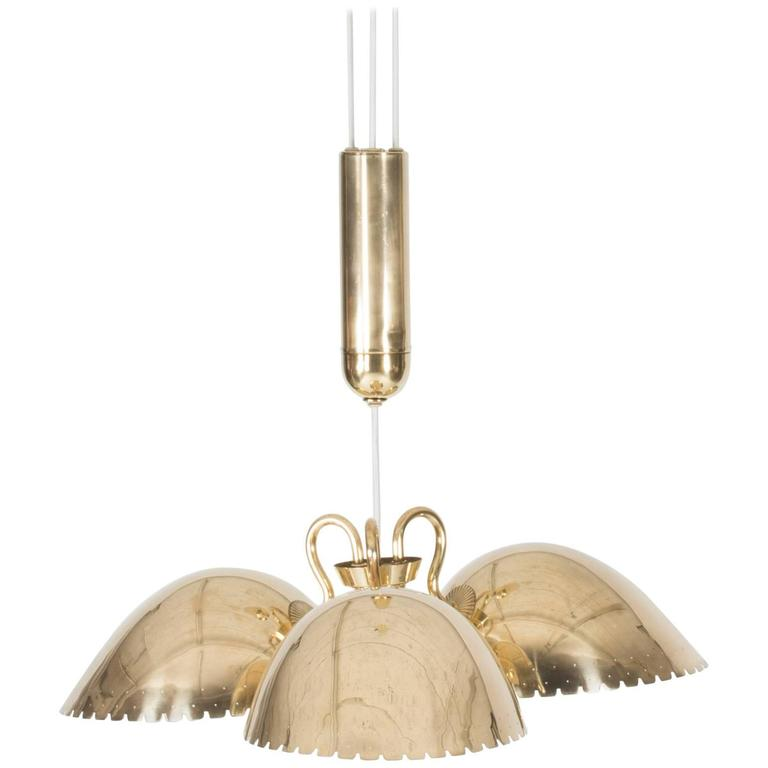 Brass Ceiling Lamp by Carl-Axel Acking
