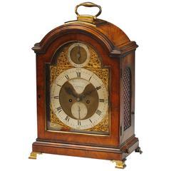 18th Century Mahogany Bracket Clock by Moon and Edwards