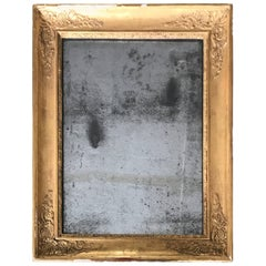 19th Century, French Gilt Mirror with Original Glass