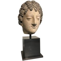 Ganharan Stucco Head of a Bodhisattva, 3rd-5th Century