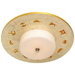 """The 32"""" Zodion Flush-Mounted Light Fixture"""