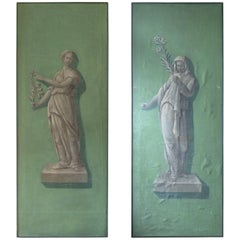 Pair of Antique Italian Painted Panels