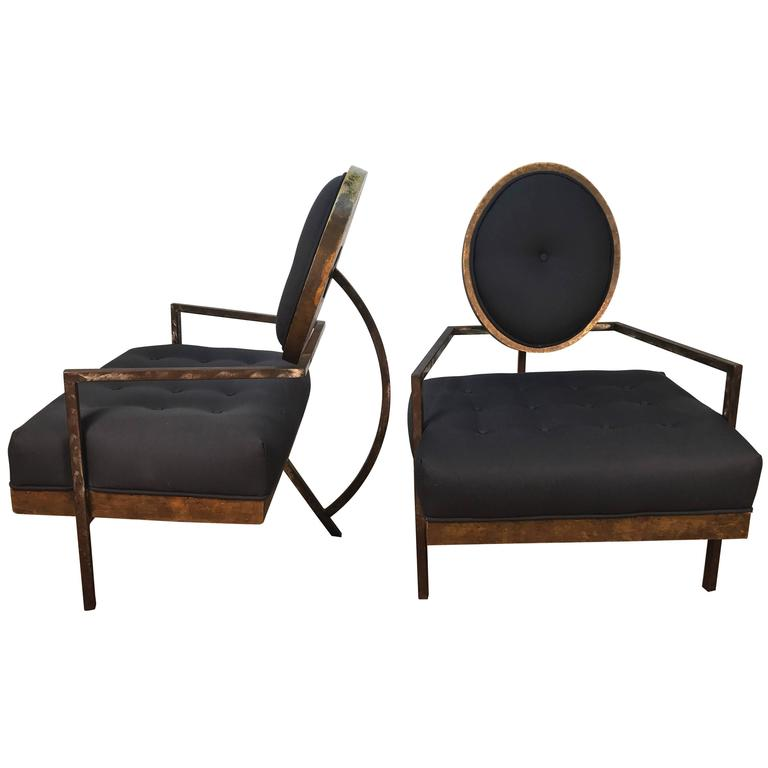 Pair of French Modern Club Chairs 1
