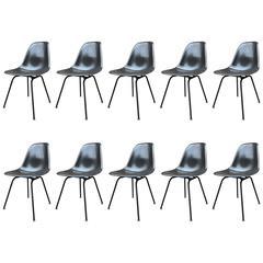 Ten Rare Herman Miller Eames Black DSX chairs