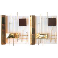 "Gio Ponti & Lumi 'Editor', Pair of Modernist Sconces, Model ""575"""