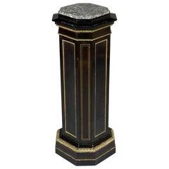 19th Century Napoleon III Style Black Column Cabinet