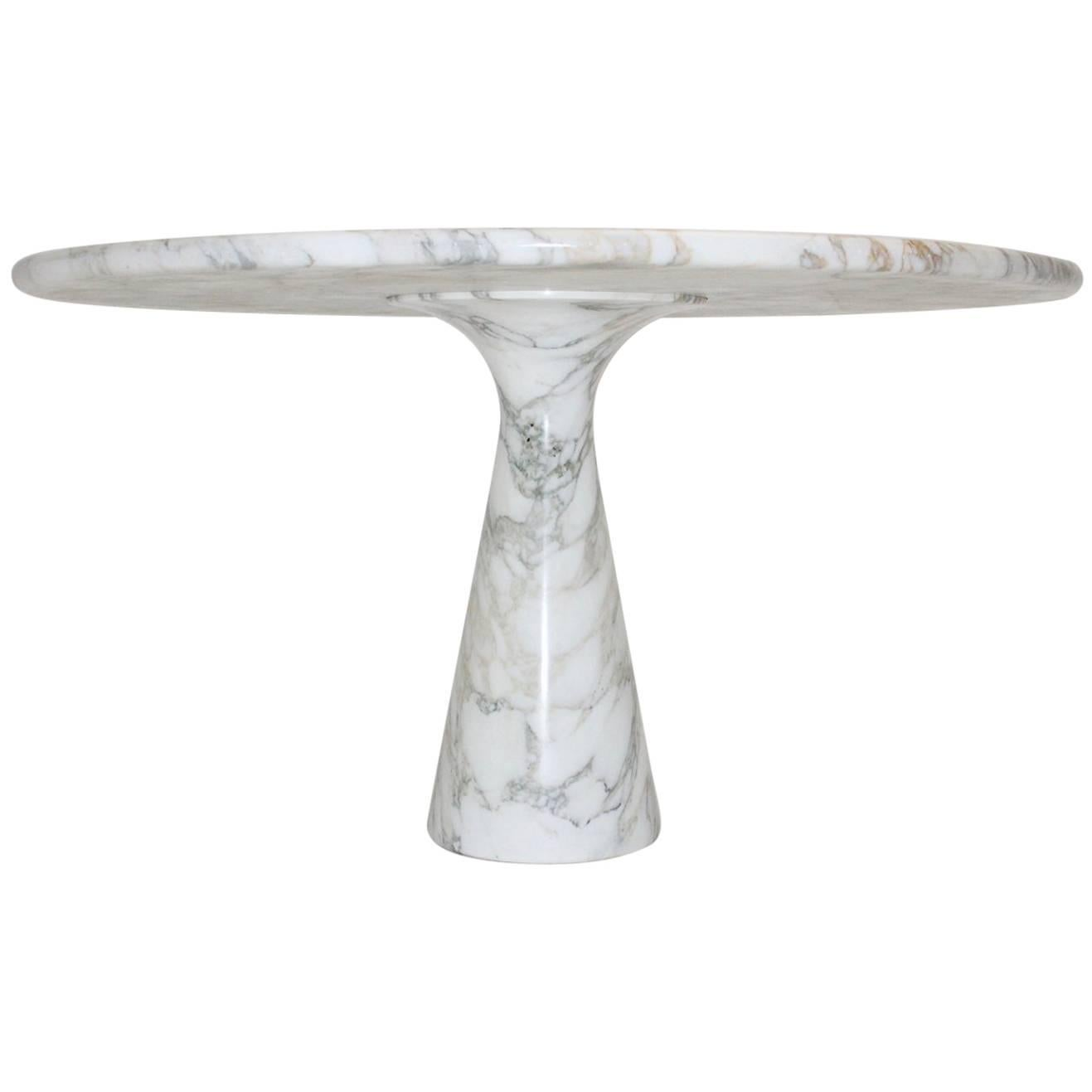 Marble Black White Vintage Dining Table by Angelo Mangiarotti T 70 1969 Italy