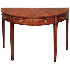 18th Century mahogany side table with half round top