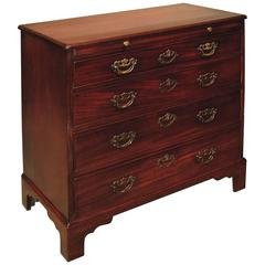 George III period mahogany straight front chest