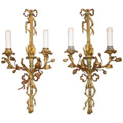 Antique Sconces, Gilt Bronze