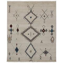 New Contemporary Moroccan Style Tribal Rug
