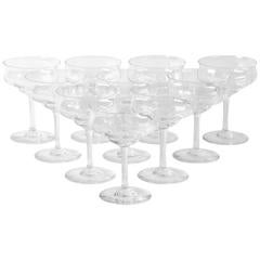 Vintage Baccarat Crystal Champagne / Martini Crystal Coupes