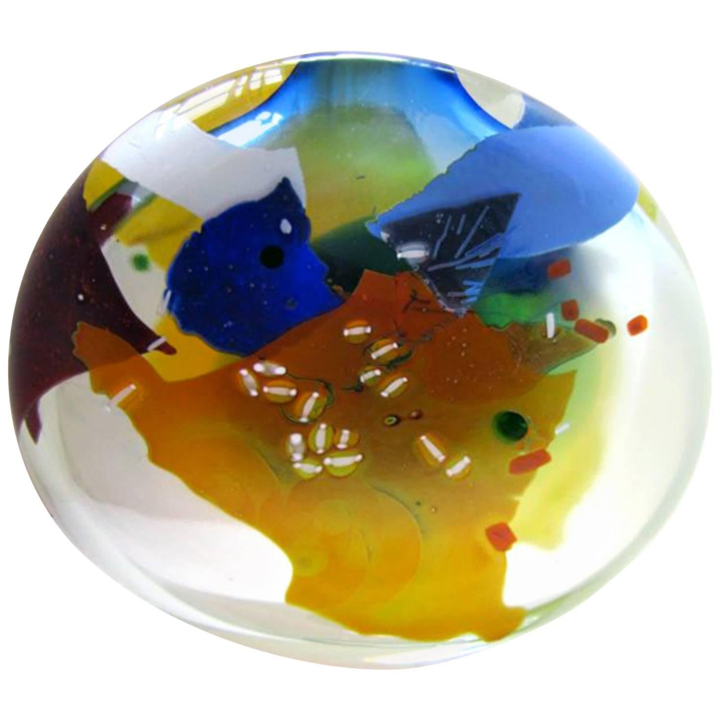 Summer Joy Sculpture in Blown Glass by Joel Philip Myers