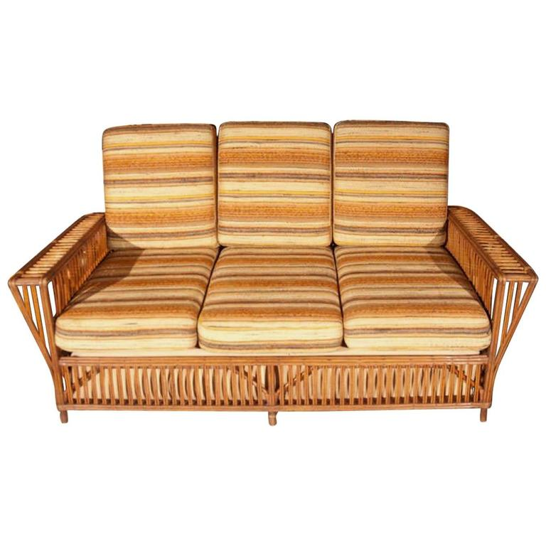 1940s Rattan Sofa