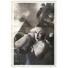 Showgirl Black and White frame photograph
