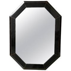 Tessellated Bone Mirror Frame with Inlaid Brass