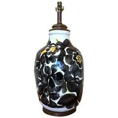 Italian Ceramic Floral Lamp