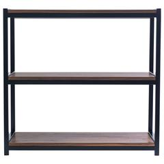 Modern Walnut and Steel Bookshelf