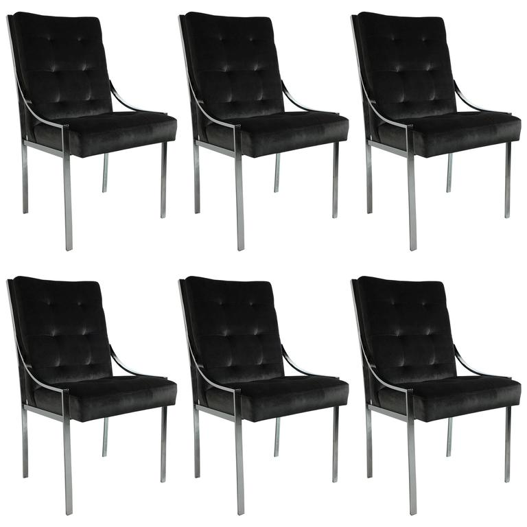 Mint Set of Six Dining Chairs by Pierre Cardin 1