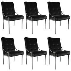 Mint Set of Six Dining Chairs by Pierre Cardin