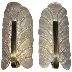 Pair of Hollywood Regency Style Sconces Attributed to Carl Fagerlund, Sweden