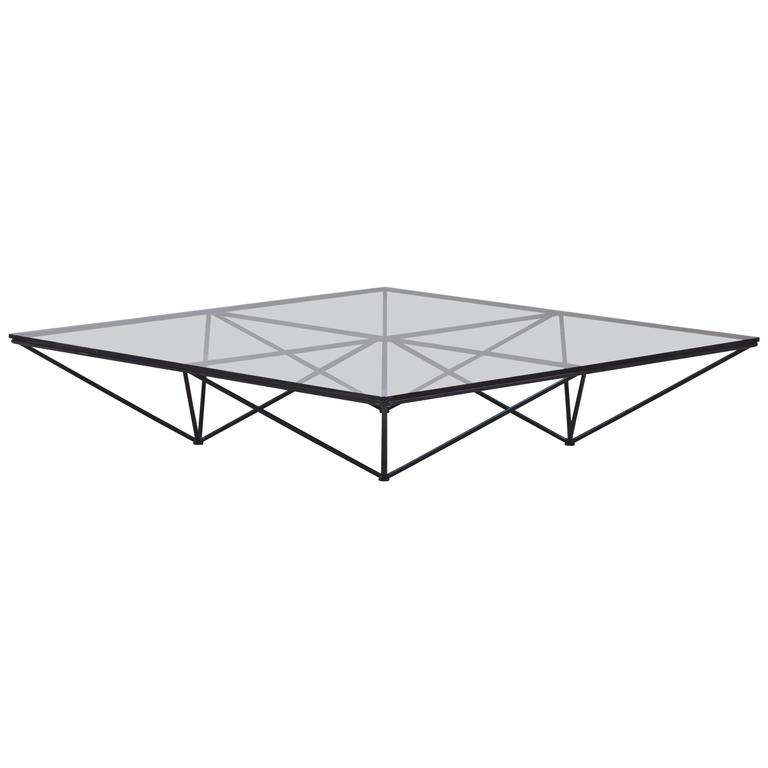 Steve Silver Company Lv200c Livonia Square Cocktail Table: Alanda Coffee Table With Smoked Glass By Paolo Piva At 1stdibs