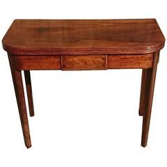 George III Period Antique Mahogany Folding Tea Table