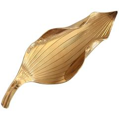 Anton Michelsen Leaf Shaped Brooch in 18-Karat Gold Designed by Gertrud Engel