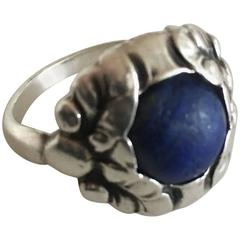 Georg Jensen Sterling Silver Ring with Lapis Lazuli #11B