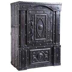 19th Century Northern Italian Antique Hobnail Safe with Four Keys