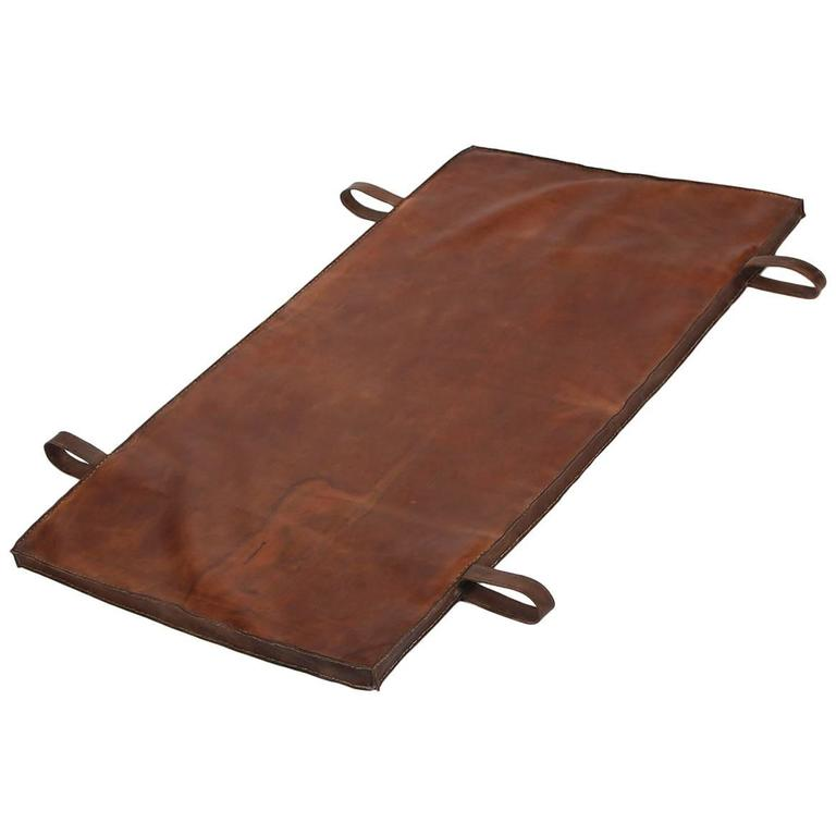 Restored Leather Czech Gymnastics Mat, 1940s 1