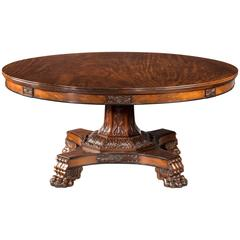 Regency Period Mahogany Large Circular Table
