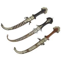 Set of Three Fine Moroccan Tribal Daggers