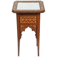 19th Century Levantine Inlaid Moorish Side Table