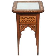 19th Century Levantine Inlaid Moorish Side Table