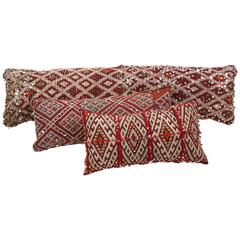 Moroccan Large Berber Pillows, Set of Three