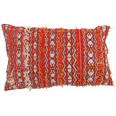 Moroccan Large Red Berber Tribal Pillow