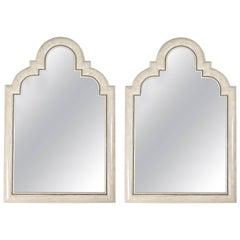 Pair of Moorish Mirrors Tessellated Marble Stone by Maitland Smith