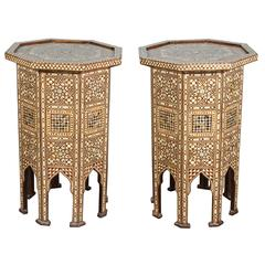 Syrian Large Octagonal Pedestal Tables