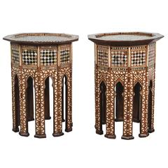 Syrian Octagonal tables Inlaid with Mother-of-Pearl