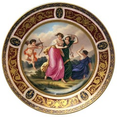 Plate Imperial Viennese Porcelain 1802 Amor Cherub Nymphs Angelika Kauffmann