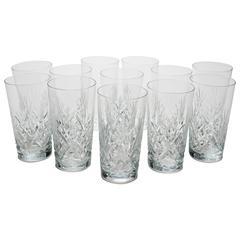 Set of 12 19th Century Cut Glass Tumblers