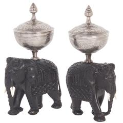 Pair of Anglo Indian Antique Tea Caddies