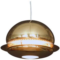 Tobia Scarpa Nictea Chandelier or Pendant in Brass by Flos, Italy, 1960s