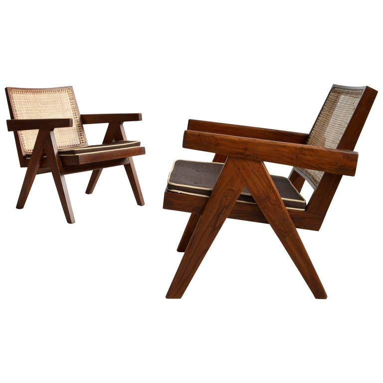 Pair of Pierre Jeanneret Armchairs 1