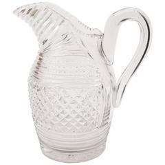 19th Century Cut Glass Water Jug