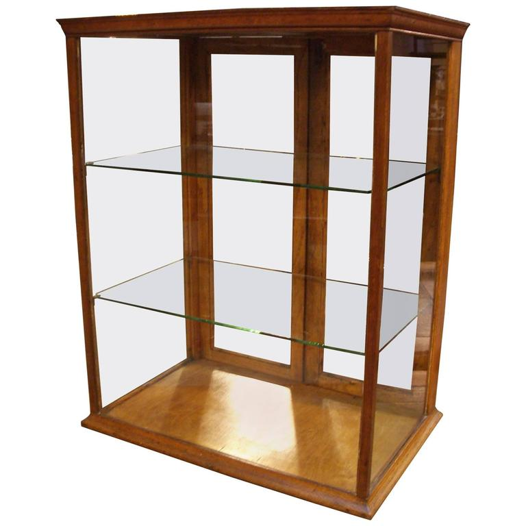 Small Oak Display Cabinet